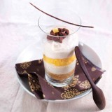 Trifle cacao et passion-ananas