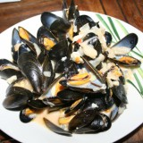 Moules à la Fourme d'Ambert