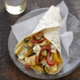Wrap poulet curry